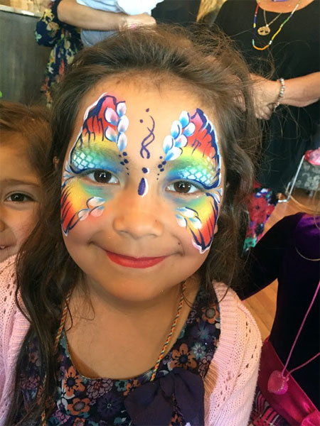 face painting rainbow butterfly melbourne